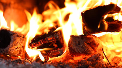 beautiful fire in the fireplace Stock Video Footage