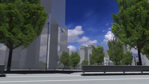 City 5J1 HD Stock Video Footage