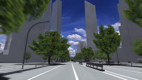 City 5K HD Animation