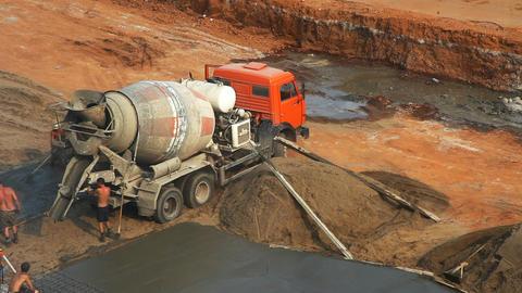 2075 Mach Concrete Site TL HD Stock Video Footage
