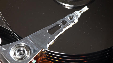 Hard disk close-up with dust Footage