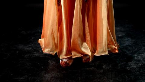 Legs pa arabic dance Stock Video Footage
