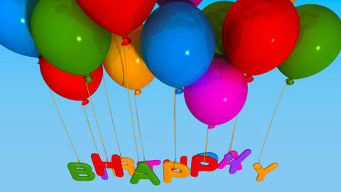 balloon happy birthday Stock Video Footage