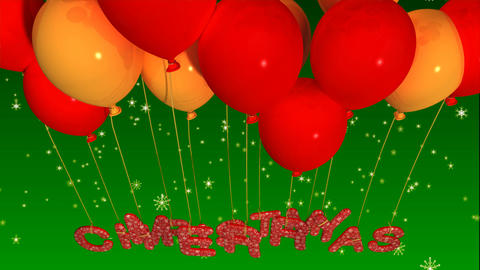 balloon merry christmas Stock Video Footage