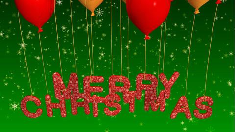 balloon merry christmas Stock Video Footage