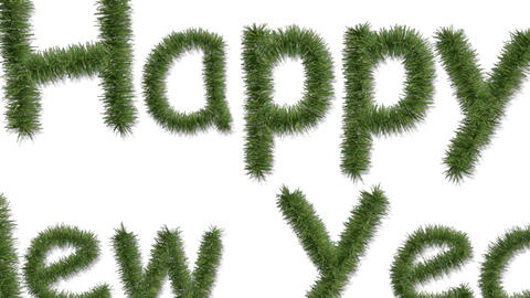 decoration happy new year Stock Video Footage