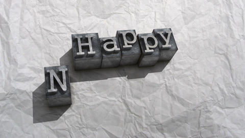 Litho happy new year Stock Video Footage