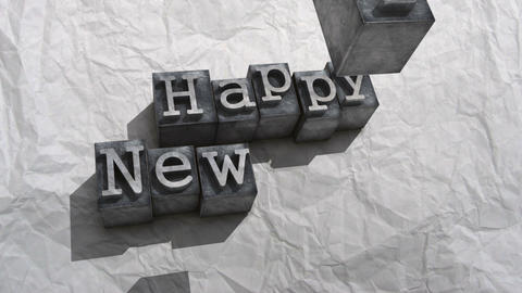 Litho happy new year Animation
