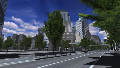 City 4E1 HD Stock Video Footage