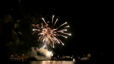 Fireworks show g1 Stock Video Footage