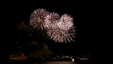 Fireworks show g3 Stock Video Footage