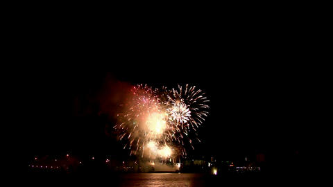 Fireworks show h2 Stock Video Footage