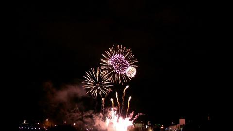Fireworks show i1b Stock Video Footage