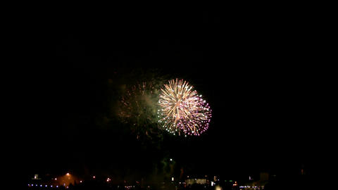 Fireworks show i1b Stock Video Footage