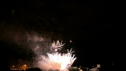 Fireworks show i1d Stock Video Footage