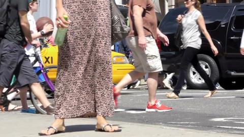 Street traffic in New York Stock Video Footage