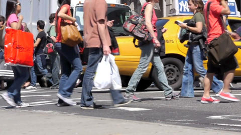 Street traffic in New York Stock Video Footage