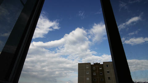 Clouds Timelapse Surrealistic Perspective 01 Stock Video Footage