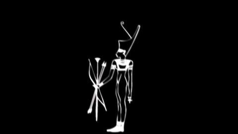 Egyptian Deities 02 Stock Video Footage