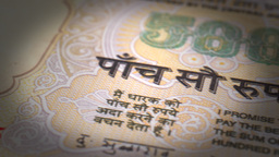 Indian Rupee Close-up Animation