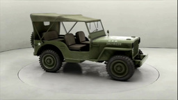 Willys Overland Jeep MB 1944 stock footage