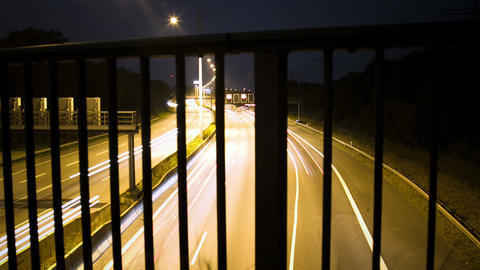 Hamburg City Highway By Night - DSLR Dolly Shot Ti stock footage