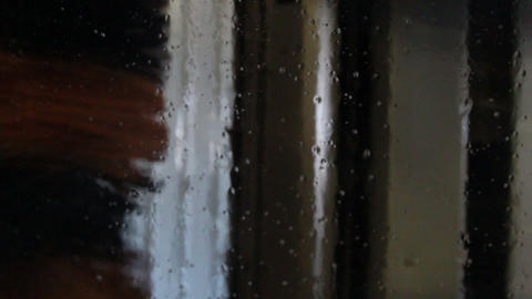 Many carwash car wash water dew on a glass and a b Footage