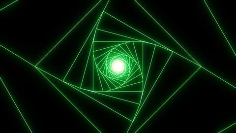3 D cube a green CG動画