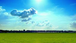 4K beautiful summer countryside landscape Footage