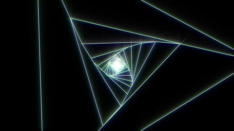 3 D triangle a white 2 CG動画