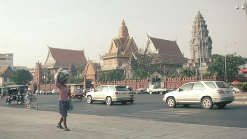 PHNOM PENH. CAMBODIA - 29 DEC 2013: Asian transpor Footage