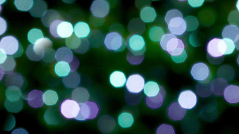Blurred blue. green and violet lights and sparkles Footage