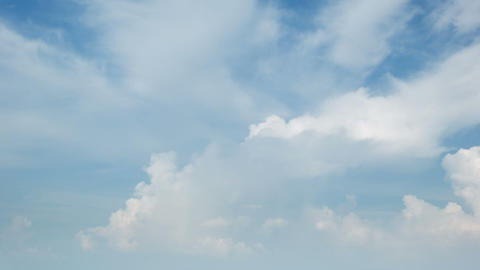 Beautiful timelapse of cumulus clouds on a bright  Footage