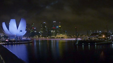 SINGAPORE - 30 DEC 2013: ArtScience Museum And Cit stock footage