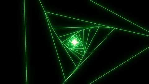 3 D triangle a green CG動画