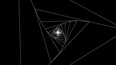 3 D triangle a white 1 Animation