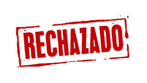 Red Rubber Stamp Rejected Spanish Animation