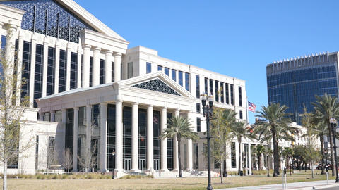 Jacksonville Courthouse stock footage