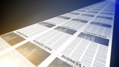4K. Business Newspapers Printing Loop Footage