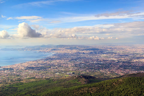 Over Naples. Italy. TimeLapse. 4K+ Footage