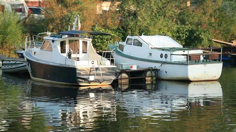 Boats summer marina Footage
