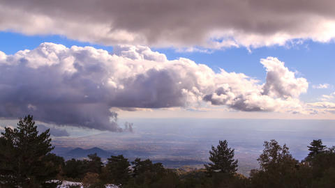 Clouds over Sicily. Panorama. Italy. TimeLapse. 12 Footage