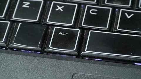 Finger Touching Alt Key On A Laptop, Media, Techno Footage