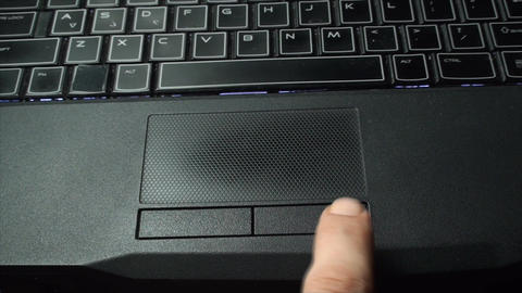 Finger Touching The Right Touch Pad Button, Top Vi Live Action