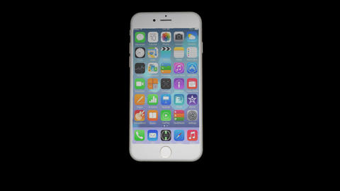 IPhone 6 3D Model 360 View With Alpha Channel stock footage