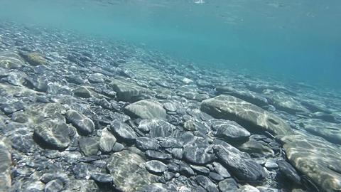 Hyperlapse Over Shallow Ocean Floor stock footage