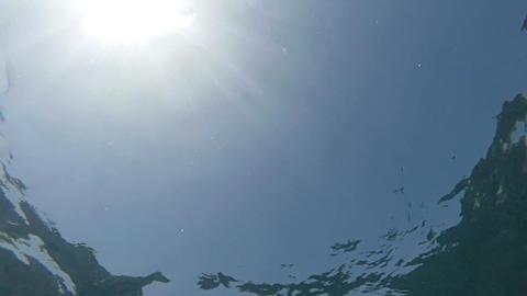 Ocean Surface Filmed From Below stock footage