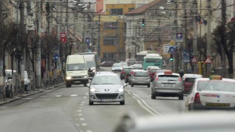 Romania Cluj Street 3 stock footage