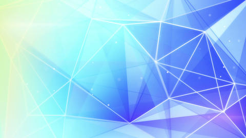 abstract triangle geometrical blue background loop Animation
