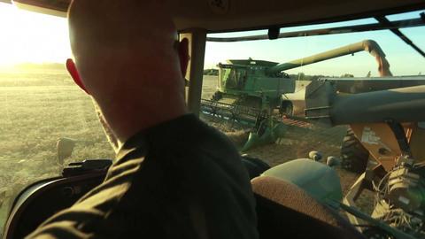 Combine Harvesting Live Action